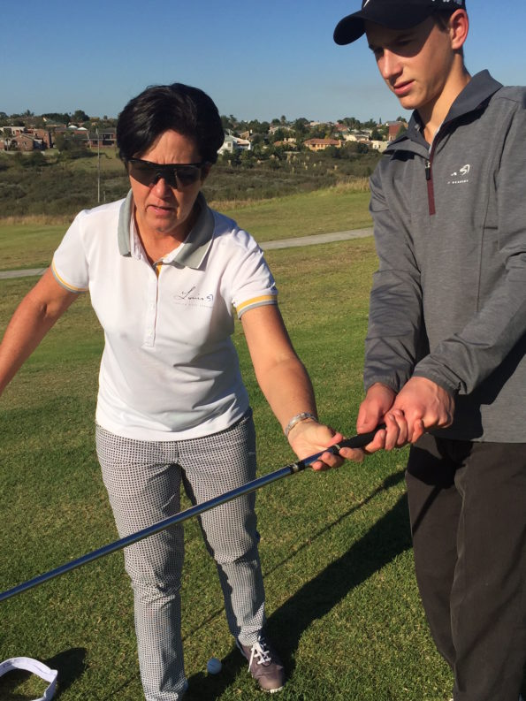 As the head coach of the Louis Oosthuizen Golf Academy, Val Holland works with a number of the Garden Route's young golf stars. Credit: Val Holland