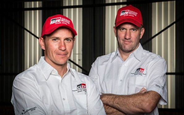 Leeroy Poulter and Rob Howie: aiming to do better in 1000 Desert Race. Picture: Waldo van der Waal, Toyota Gazoo Racing