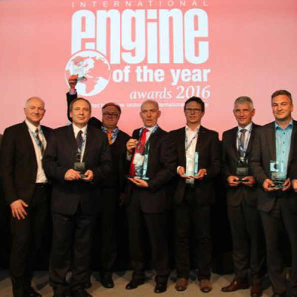 Peugeot group officials at the awards ceremony in Stuttgart. Picture: Motorpress