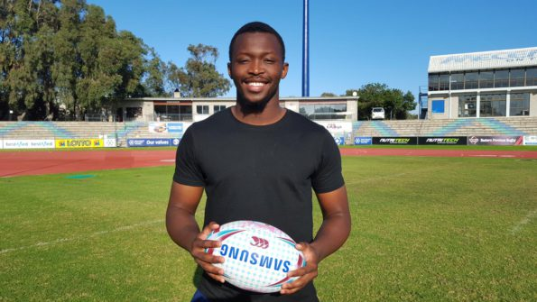 FNB NMMU-Madibaz player Junior Pokomela will represent South Africa in the Junior World Rugby Championship in England. Photo: Full Stop Communications