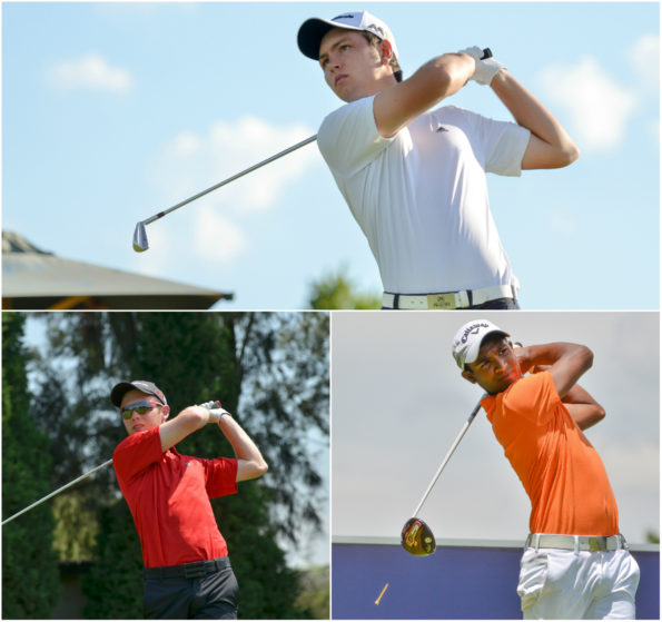 Jovan Rebula, Marco Steyn and Dylan Naidoo will represent South Africa in the Eisenhower Trophy at the 2016 World Amateur Team Championship; credit Ernest Blignault