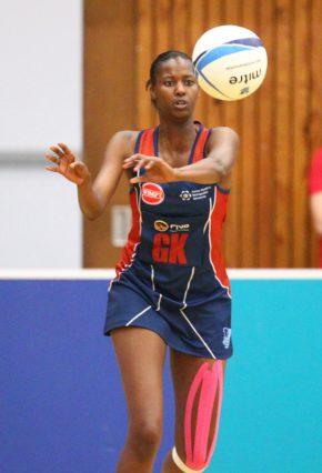 Port Elizabeth, South Africa, 23 September 2013 : Zanele Vimbela of NMMU during the Varsity Netball  match between NMMU vs UCT  © Michael Sheehan / SASPA