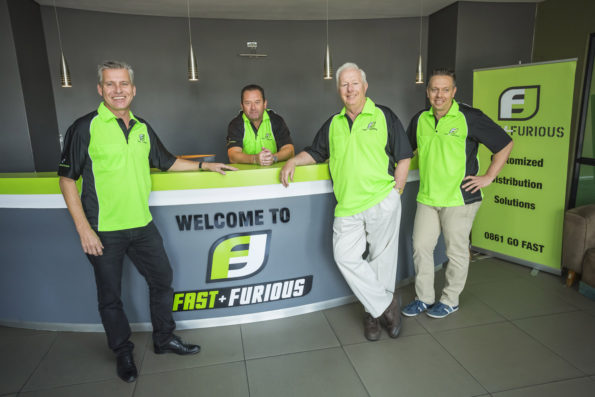 Specialist transport company Fast & Furious are the official logistics partner of this year's PwC Great Zuurberg Trek. Pictured here are company directors, from left, Adrian Wilcox, Jason Lombard, John Fletcher and Grant Fletcher. Photo: Supplied