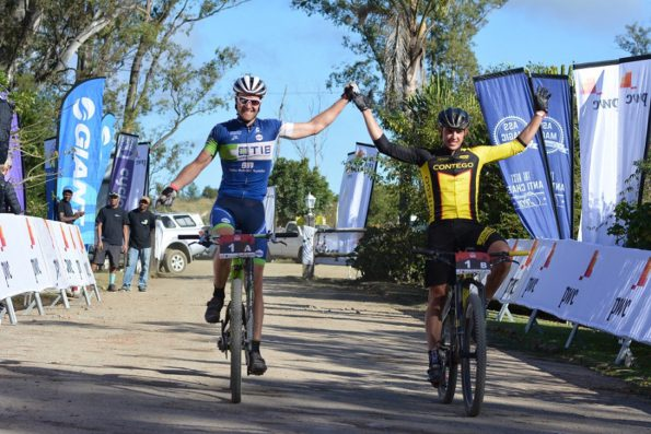 Andrew Hill (left) and Adriaan Louw win their second PwC Great Zuurberg Trek title in three years. Photo: Full Stop Communications