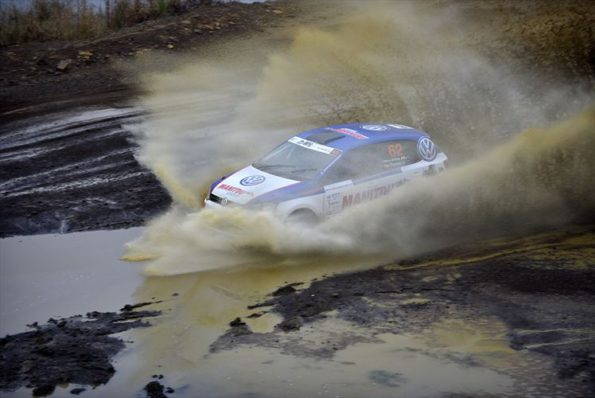 Paul Franken and Pierre Arries; stirring up the waters at the recent rally championships. Picture: Quickpic