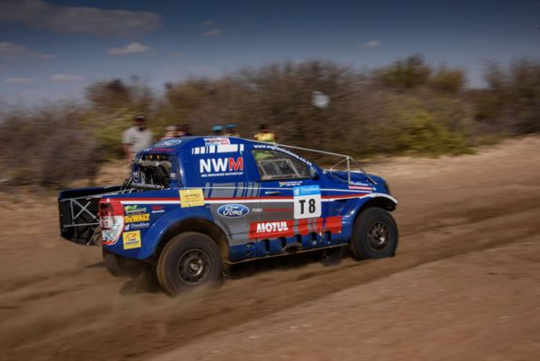 Fire setback: Chris Visser and Ward Huxtable: stirring it up at another rally. Picture: Quickpic