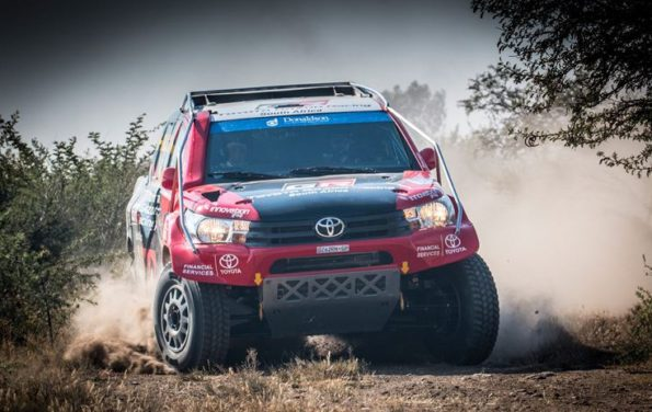 Anthony Taylor and Dennis Murphy; in second place on the log. Picture: Waldo van der Waal/ Toyota Gazoo Racing