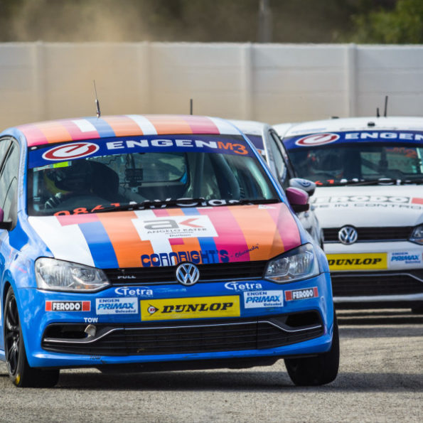 Tearaways: roaring round track at the Engen Volkswagen Cup in East London