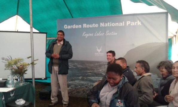 MC: Owen Govender to his right (Andrew Campbell, Chairperson of the African Game Rangers Association of SA)