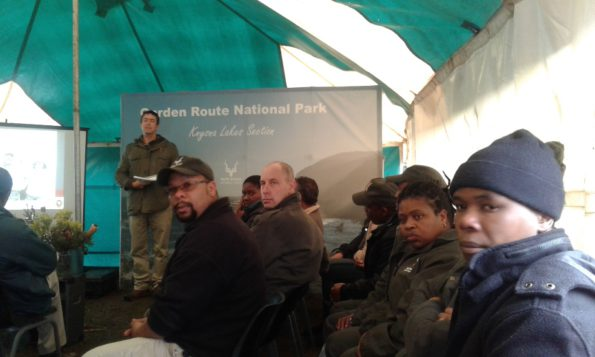 Andrew Campbell gave a keynote address at the Ranger Day event in Harkerville