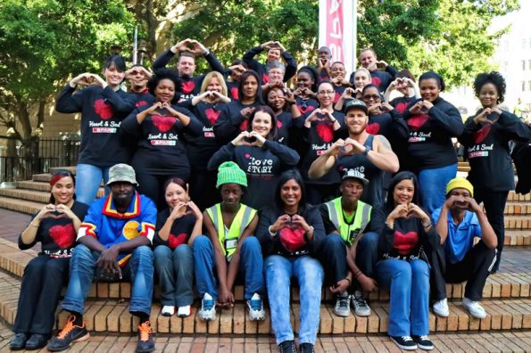 SPAR Eastern Cape and Love Story employees assisted in serving a meal to the homeless as part of their City Feed initiative on Mandela Day. Photo: Leon Hugo