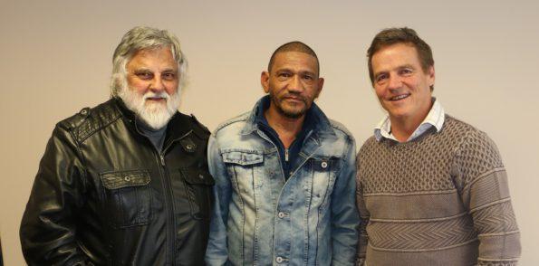 Hans Oosthuizen, Tom Johnson (Slypsteen Development Centre) and Theuns Eloff (FW de Klerk Foundation)