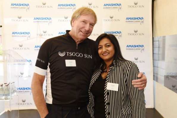 Derek Watts and Priya Naidoo, GM Communications Tsogo Sun