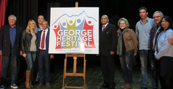 The George Heritage Festival Committee together with the George City Council proudly revealed the Heritage Festival Logo on Friday. From left: Councillor Rassie De Villiers, Thelma Heyns (Intembeko Group); Jovan Heyns (Intembeko Group); Deputy Mayor Daniel Maritz; Executive Mayor Charles Standers; Councillor Iona Kritzinger; Clint Heyns (Intembeko Group); Dr Willie Cilliers (George Business Chamber and Chairperson Heritage Festival Committee); Caroline Coetzee (Intembeko Group).