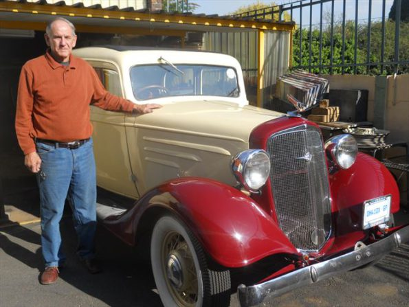 Pride and joy… Ben Van Rooyen with his 1934 Chevrolet. Van Rooyen's vehicle will feature in a six-part US mini-series based on the life and times of Nelson Mandela. Picture: Quickpic