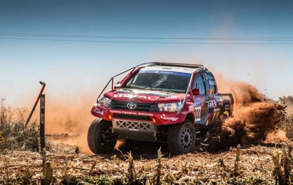 Leeroy Poulter and Rob Howie: heading for a win in Lichtenburg. Picture Waldo van der Waal/ Toyota Gazoo Racing