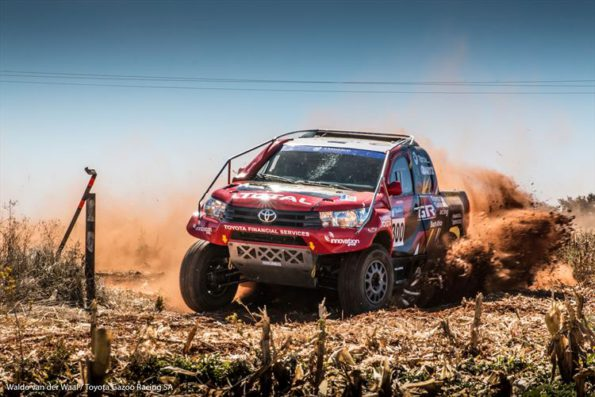 Leeroy Poulter and Rob Howie: on their way to another win. Picture: Waldo Van der Waal/ Toyota Gazoo Racing