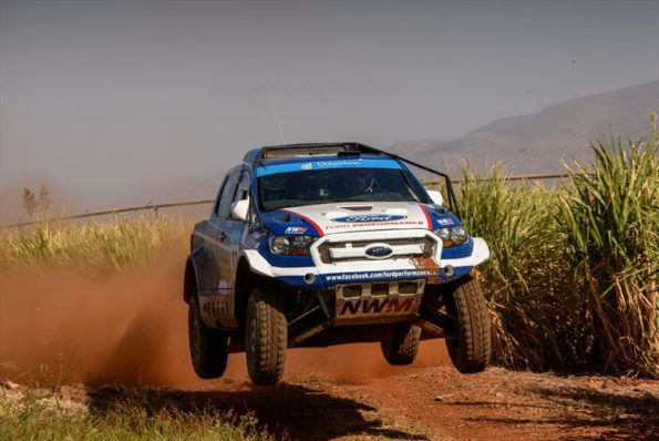 Gareth Woolridge and Boyd Dreyer: lift-off at the Nkomazi 450 in Malelane. Picture: Quickpic/ Colin Mileman