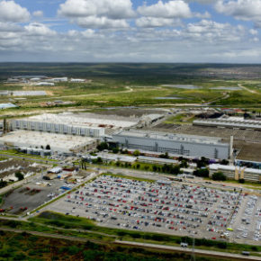 Jam-packed: today the plant in Uitenhage, Port Elizabeth, has a capacity of 600 cars a day. Picture: Quickpic