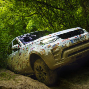 Almost unwrapped: Discovery's new family SUV. Picture: Motorpress/Land Rover