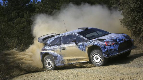 Testing time for Hyundai: the 2017 i20 rally car. Picture: Quickpic