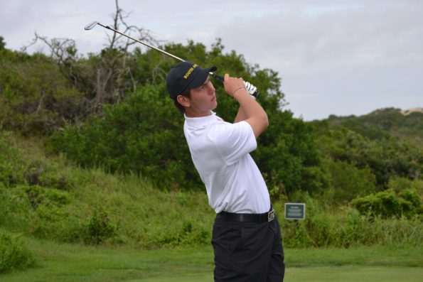 SA number one Jovan Rebula led the team in round one of the World Amateur Team Championship; credit SAGA