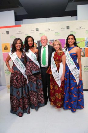 Minister of Tourism Mr Derek Hanekom with the Winners of the Miss Earth SA 2016