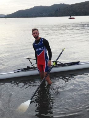 NMMU-Madibaz rower Louis Nel prepares for a race in the Knysna Midway Regatta last weekend. Photo: Supplied