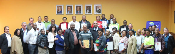 During the Corporate Services Committee Meeting, certificates were handed over to officials who attended various courses during the 2015/16 financial year.  Pictured are officials, including Councillors from the Corporate Services Committee as well as the Executive Managers from the different departments