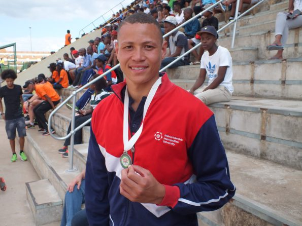 High jumper Garth Ellis is one of the Madibaz athletes sure to benefit from the Bestmed sponsorship. Photo: Supplied