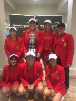 2016 SA Women's Inter-Provincial A-Section champions Gauteng; credit WGSA