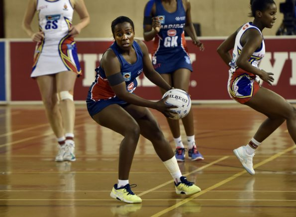 Nolusindiso Twani of NMMU-Madibaz controls possession in their Varsity Netball match against UP-Tuks last month. Photo: Saspa