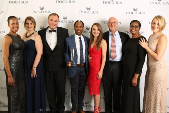 Tsogo Sun team with the Minister - Sibongile Makete, Hayley Moore, Marcel von Aulock, NQ, Candy Tothill, Minister Hanekom, Rebone Sesoko and Lucy Purdon