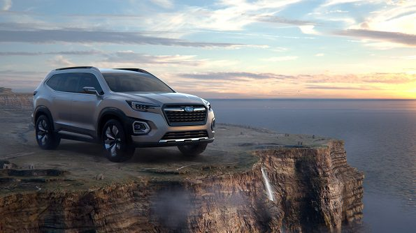 Concept vehicle unveiled: The Subaru SUV. Picture: Quickpic