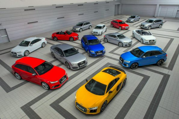 The Audi range: shines in customer survey. Picture: Motorpic