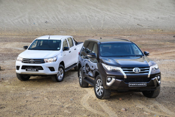Toyota;s Hilux and Fortuner. Picture: Quickpic