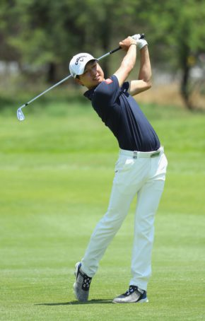 Jeunghun Wang of Korea in action during the third round of the Nedbank Golf Challenge at the Gary Player CC on November 12, 2016 in Sun City, South Africa.  (Photo by Warren Little/Getty Images)