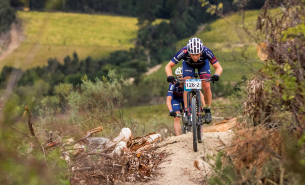 Altech Autopage Pro Cycling rider Hanco Kachelhoffer (front) believes the two-day concept of next week's Sanlam MTB Invitational could be a winner. Photo: Ewald Sadie