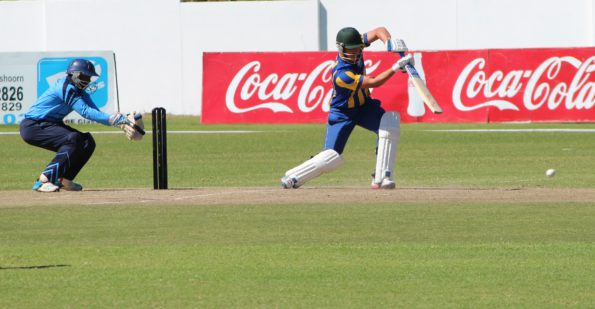Hanno Kotze of SWD in action for the Cobras during last year's Cricket South Africa Franchise Academies week that was hosted in Oudtshoorn. SWD will again host this event in Oudtshoorn from 24-28 January 2017