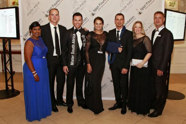 Attending the fashion show at the Boardwalk at the weekend were (from left) SPAR promotions and advertising controller Roseann Shadrach, Jason Kieck, Armand du Plessis, Bernelee Daniell, Dale Steyn, SPAR Eastern Cape promotions and advertising manager Wendy Westraadt and Doctor Neil Littleton from the Igazi Foundation. Photo: Leon Hugo