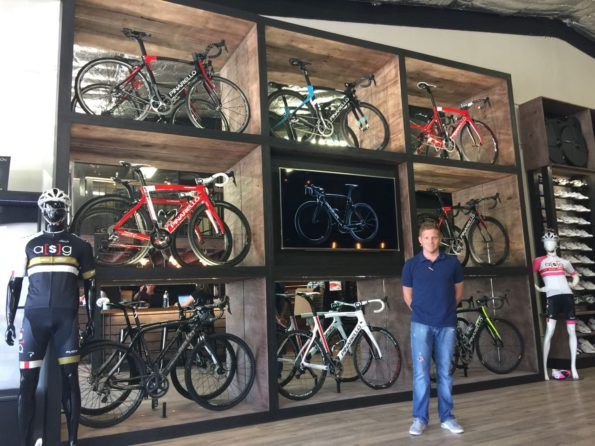 Professional cyclist Hanco Kachelhoffer will manage the ASG Store opening next week in Paarl. The outlet will specialise in bikes and accessories, as well as providing expert advice for customers. Photo: Supplied