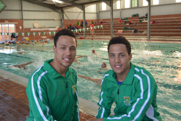Madibaz swimming stars Alard (left) and Alaric Basson won several medals at the African Championships in Bloemfontein recently. Photo: Full Stop Communications