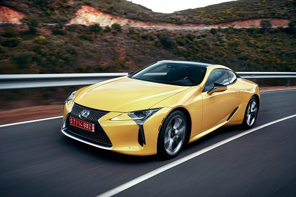 The LC luxury coupe from Lexus: powered by a V8-engine. Picture: Quickpic