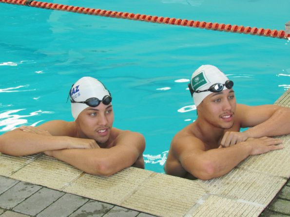 NMMU-Madibaz swimming stars Alard (left) and Alaric Basson leave for Canada on Friday to compete in the World Short Course Championships from December 6 to 11. Photo: Supplied