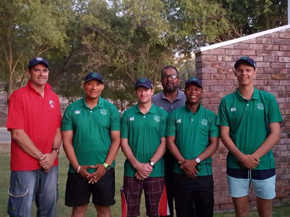Present were Jean Neethling (Chairman of the SWD Cricket Umpires Association), Hennie Pieterse and André Olivier who will officiate in the Momentum CSA U/15 week in Benoni, Faizel Samsoodien (SWD Umpire Educator), Nkululeko Ncene who is attending the Momentum CSA U/15 week in Potchefstroom and Edrich Janse van Rensburg who will officiate in the Momentum CSA U/13 week in Cape Town