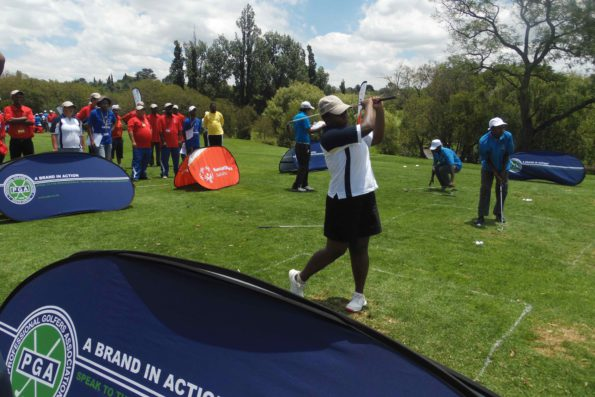 The athletes of the Special Olympics teeing off at Royal Johannesburg and Kensington Golf Club in the Special Olympics SA National Golf Championship. Credit: PGA of SA