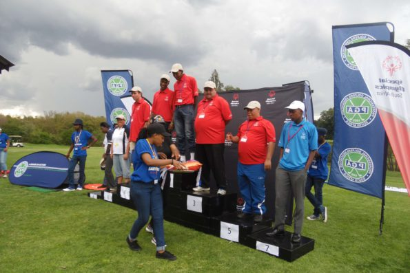 The medal ceremony at the Special Olympics SA National Golf Championship at Royal Johannesburg and Kensington Golf Club. Credit: PGA of SA