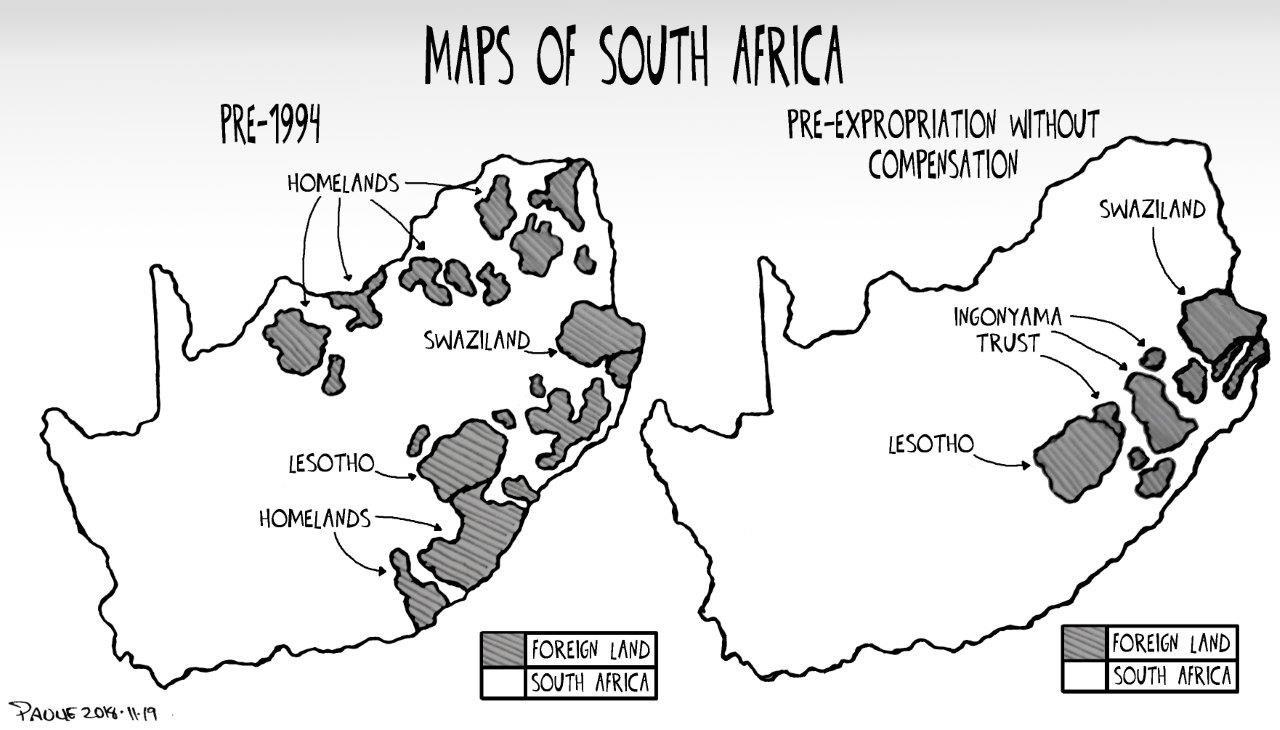 Cartoon Maps Of South Africa The Gremlin