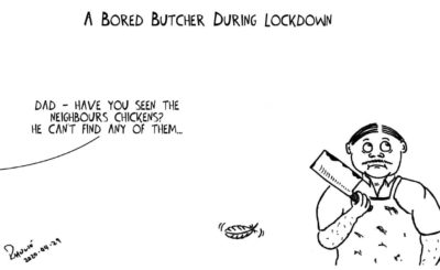 Cartoon - Shutdown Day 34: A Bored Butcher